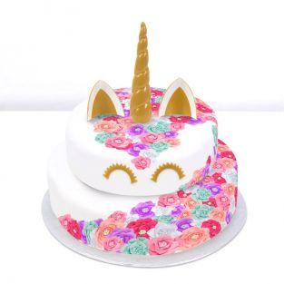 Pastel Rainbow Unicorn Cake
