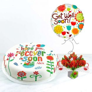 Get Well Roses Gift Set