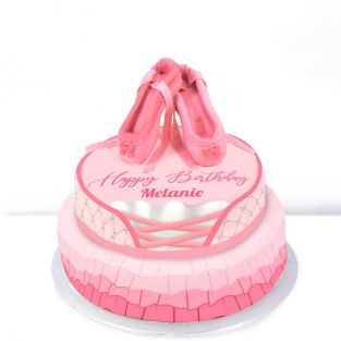 Tiered Ballerina Birthday Cake