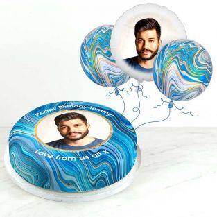 Blue Marble Photo Gift Set