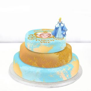 Disney Cinderella Photo Cake