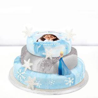 Disney Elsa Photo Cake