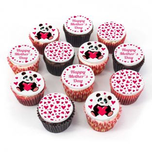 12 Panda Mum Cupcakes