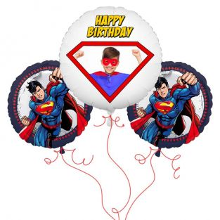 Superman Photo Balloon Bouquet
