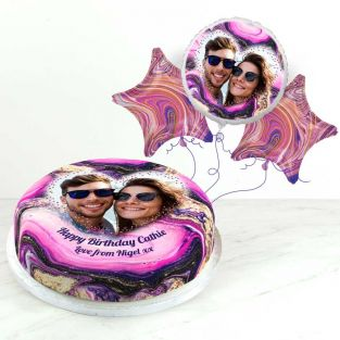 Purple Marble Photo Gift Set