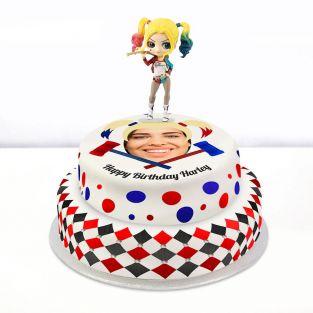 Harley Quinn Photo Cake