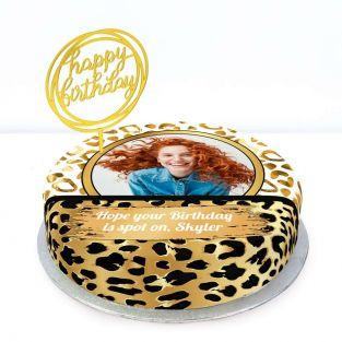 Leopard Photo Cake