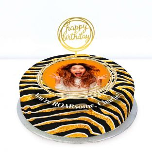 Tiger Photo Cake