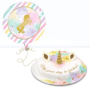 Gold Unicorn Gift Set