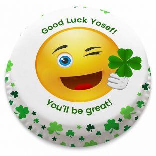 Good Luck Emoji Cake