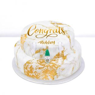 Tiered Champagne Congrats Cake