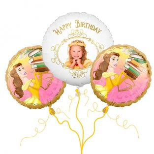 Disney Belle Photo Balloon Bouquet