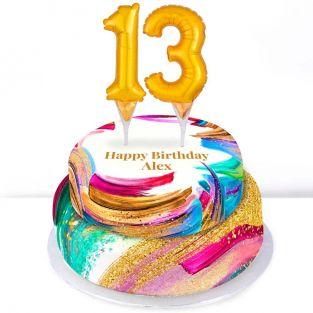 13th Birthday Paint Cake