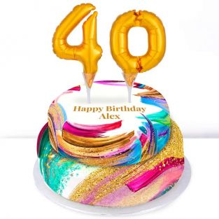 40th Birthday Paint Cake