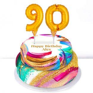 90th Birthday Paint Cake