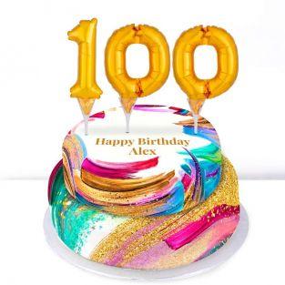 100th Birthday Paint Cake