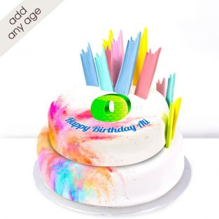 Any Age Paint Explosion Cake