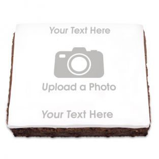 Full Photo Brownie With Text