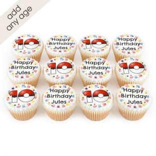 12 Pokemon Number Cupcakes