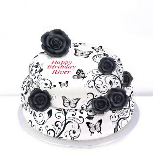 Tiered Butterfly Flower Cake