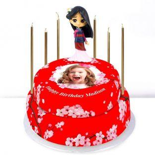 Disney Mulan Photo Tiered Cake