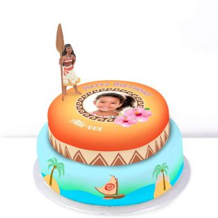Disney Moana Photo Cake