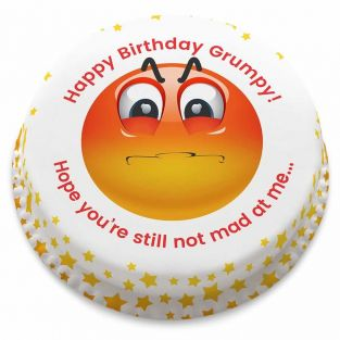 Grumpy Emoji Cake