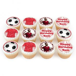 12 Liverpool FC Themed Cupcakes