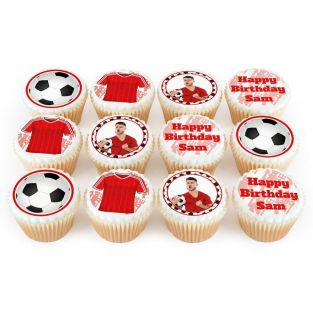 12 Manchester United Themed Cupcakes