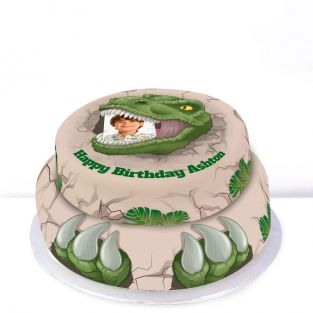 Tiered T-Rex Cake