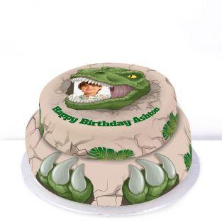 Tiered T-Rex Cake