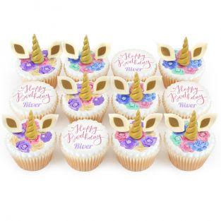 12 Unicorn Cupcakes
