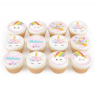 12 Unicorn Cloud Cupcakes