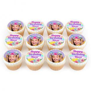 12 Unicorn Photo Cupcakes