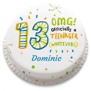 13th Birthday OMG Cake
