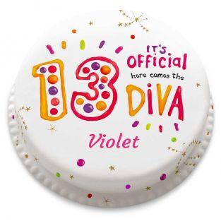 13th Birthday Diva Cake