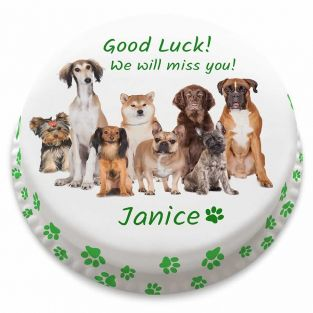 Good Luck Dogs Cake