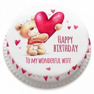 Loving Birthday Ted Cake