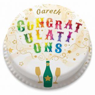 Explosive Congrats Cake