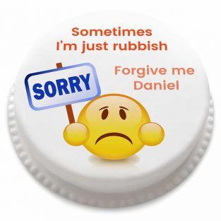 Sorry Emoji Cake