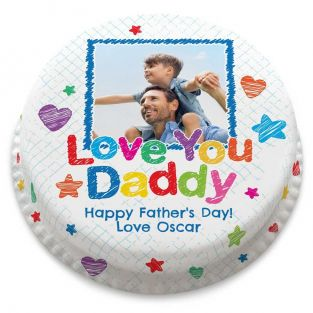 Love you Daddy Photo Cake