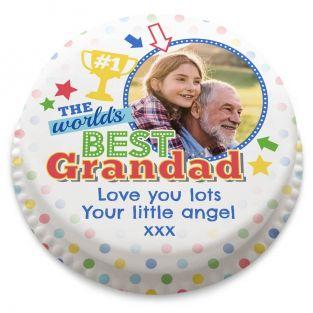 Best Grandad Photo Cake