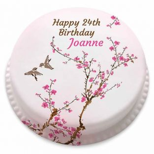 Birthday Blossoms Cake