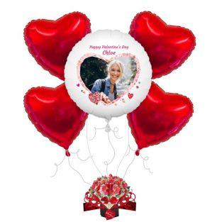 Floral Heart Balloon Bouquet