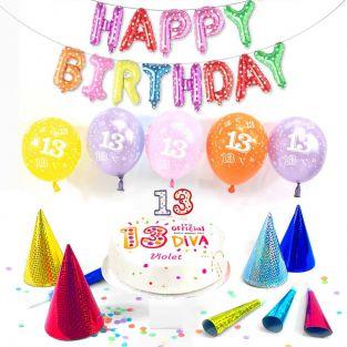 13th female birthday box