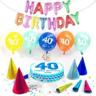 40th male birthday box