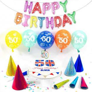 50th male birthday box