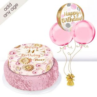 Any Age Rose Birthday Gift Set