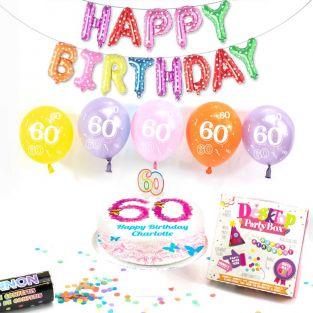 60th female birthday box
