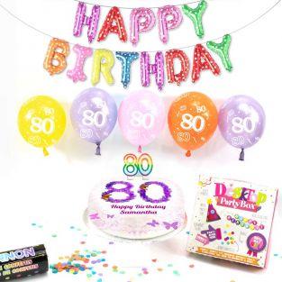 80th female birthday box